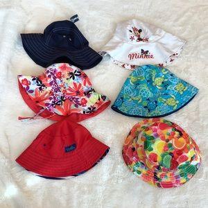 6 sun hats UV Skins Gymboree Old Navy Disney